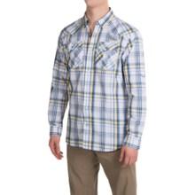 Columbia Sportswear Beadhead Shirt - Snap Front, Long Sleeve (For Men) in Blue Heron Plaid - Closeouts