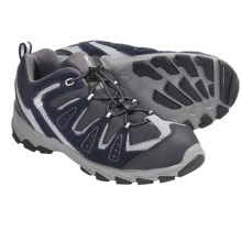 Columbia Sportswear Beartooth Bungee Lace Shoes (For Youth) in Columbia Navy/Winter White - Closeouts