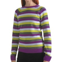Columbia Sportswear Behind the Lines Sweater - Angora, Long Sleeve, Crew Neck (For Women) in Plum - Closeouts