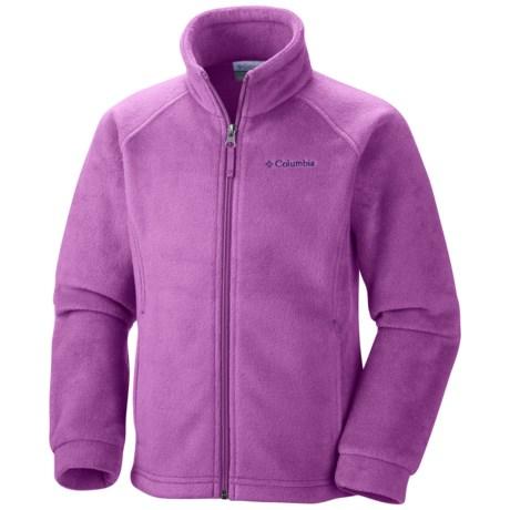 Columbia Sportswear Benton Springs Fleece Jacket (For Girls) in Blossom Pink