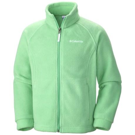 Columbia Sportswear Benton Springs Fleece Jacket (For Girls) in Chameleon Green