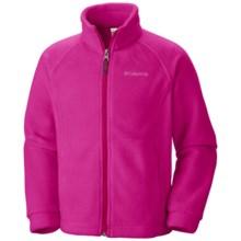 Columbia Sportswear Benton Springs Fleece Jacket (For Girls) in Haute Pink - Closeouts