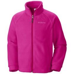 Columbia Sportswear Benton Springs Fleece Jacket (For Girls) in Haute Pink