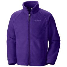 Columbia Sportswear Benton Springs Fleece Jacket (For Girls) in Hyper Purple - Closeouts