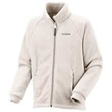 Columbia Sportswear Benton Springs Fleece Jacket (For Little Girls) in Sea Salt - Closeouts