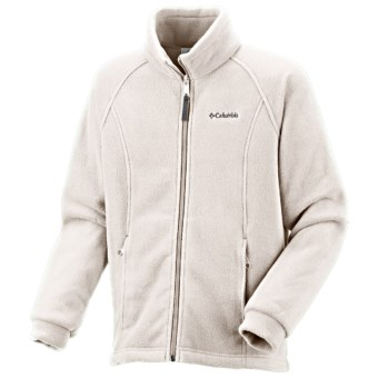 Columbia Sportswear Benton Springs Fleece Jacket (For Little Girls) in Sea Salt