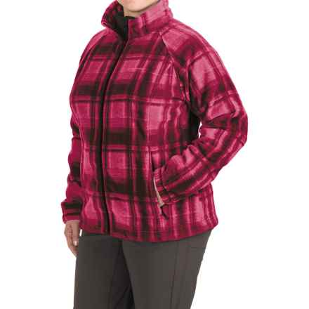 Columbia Sportswear Benton Springs Fleece Jacket (For Plus Size Women) in Red Orchid Plaid - Closeouts