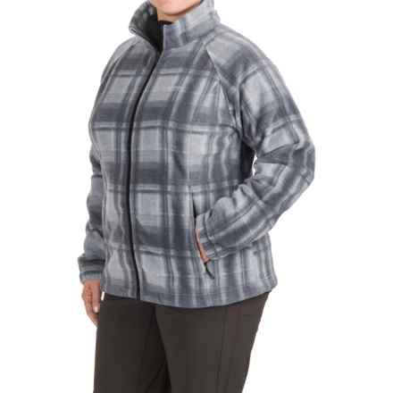 Columbia Sportswear Benton Springs Fleece Jacket (For Plus Size Women) in Tradewinds Grey Plaid - Closeouts