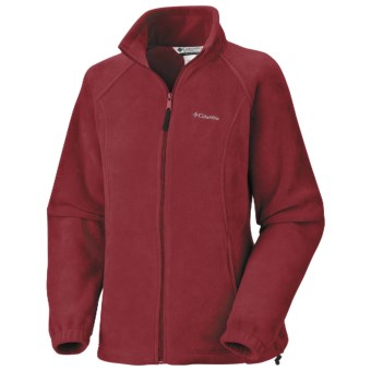 Columbia Sportswear Benton Springs Fleece Jacket - Full Zip (For Women) in 611 Red Element