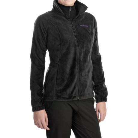 Columbia Sportswear Benton Springs Fleece Jacket - Full Zip (For Women) in Black/Hyper Purple