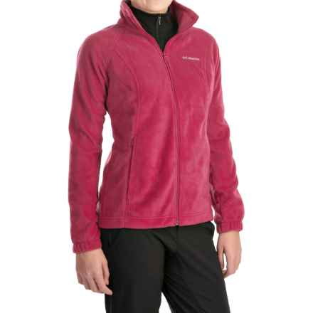 Columbia Sportswear Benton Springs Fleece Jacket - Full Zip (For Women) in Red Orchid - Closeouts