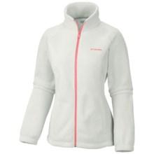 Columbia Sportswear Benton Springs Fleece Jacket - Full Zip (For Women) in Sea Salt/Coral - Closeouts