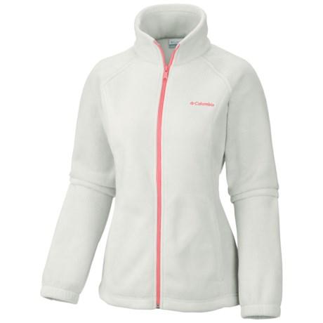 Columbia Sportswear Benton Springs Fleece Jacket - Full Zip (For Women) in Sea Salt/Coral