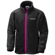 Columbia Sportswear Benton Springs Fleece Jacket - Zip Front (For Toddler Girls) in Black, Groovy Pink - Closeouts