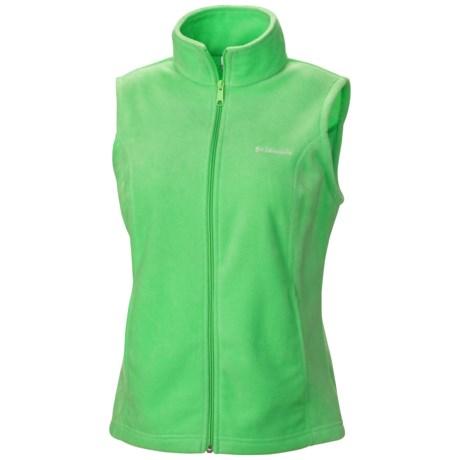 Columbia Sportswear Benton Springs Fleece Vest (For Plus Size Women) in Chameleon Green