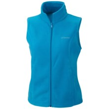 Columbia Sportswear Benton Springs Fleece Vest (For Plus Size Women) in Dark Compass - Closeouts
