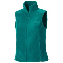 Columbia Sportswear Benton Springs Fleece Vest (For Plus Size Women) in Emerald - Closeouts