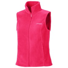 Columbia Sportswear Benton Springs Fleece Vest (For Plus Size Women) in Ruby Red - Closeouts