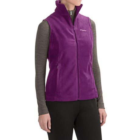 Columbia Sportswear Benton Springs Fleece Vest (For Women) in Plum