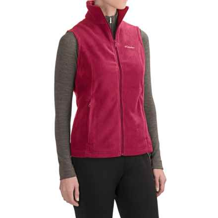 Columbia Sportswear Benton Springs Fleece Vest (For Women) in Red Orchid - Closeouts