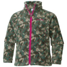 Columbia Sportswear Benton Springs II Printed Fleece Jacket (For Little and Big Girls) in Cypress Camo Dot Print - Closeouts
