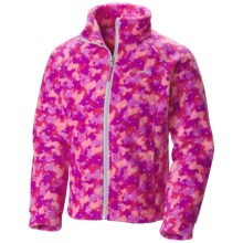 Columbia Sportswear Benton Springs II Printed Fleece Jacket (For Little and Big Girls) in Haute Pink Camo Dot Print - Closeouts