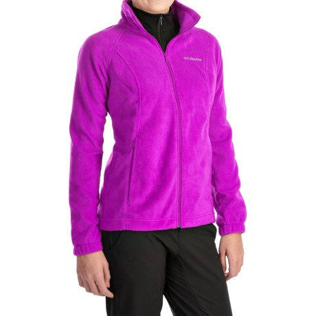 Columbia Sportswear Benton Springs Jacket - Full Zip (For Plus Size Women) in Bright Plum