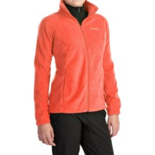Columbia Sportswear Benton Springs Jacket - Full Zip (For Plus Size Women) in Coral Flame - Closeouts