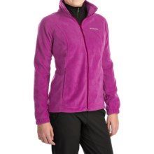 Columbia Sportswear Benton Springs Jacket - Full Zip (For Plus Size Women) in Deep Blush - Closeouts
