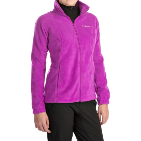 Columbia Sportswear Benton Springs Jacket - Full Zip (For Plus Size Women) in Foxglove