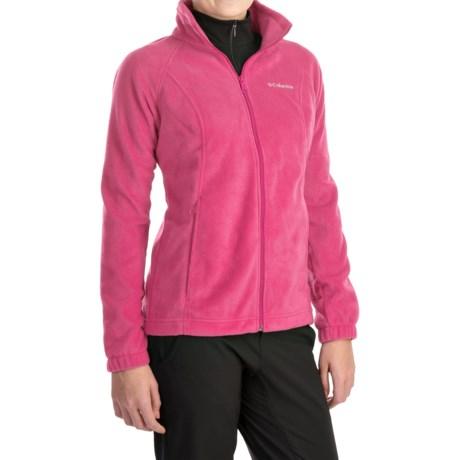 Columbia Sportswear Benton Springs Jacket - Full Zip (For Plus Size Women) in Tropic Pink