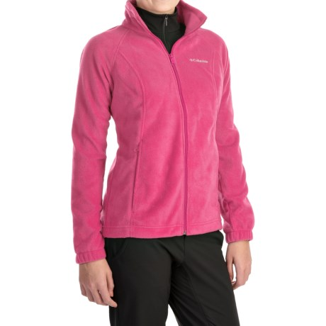 Columbia Sportswear Benton Springs Jacket - Full Zip (For Plus Size Women) in Tropic Pink