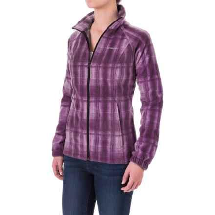 Columbia Sportswear Benton Springs Print Jacket (For Women) in Purple Dahlia Plaid - Closeouts