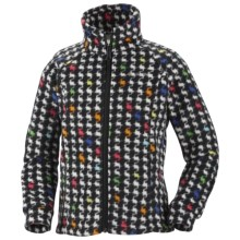 Columbia Sportswear Benton Springs Printed Fleece Jacket (For Youth Girls) in Black Houndstooth - Closeouts