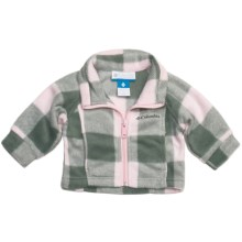 Columbia Sportswear Benton Springs Printed Jacket - Fleece (For Infants) in Satin Pink Lumberjack Plaid - Closeouts