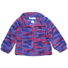 Columbia Sportswear Benton Springs Printed Jacket - Fleece (For Toddler Girls) in Bright Rose Camo - Closeouts