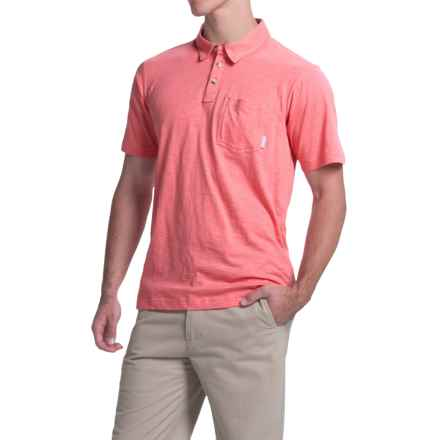 Columbia Sportswear Berwick Point Polo Shirt - Short Sleeve (For Men) in Wild Salmon - Closeouts