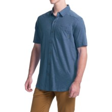 Columbia Sportswear Berwick Point Shirt - Button Front, Short Sleeve (For Men) in Night Tide - Closeouts