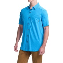Columbia Sportswear Berwick Point Shirt - Button Front, Short Sleeve (For Men) in Pacific Blue - Closeouts