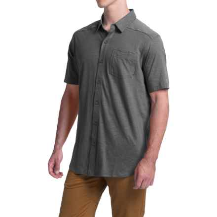 Columbia Sportswear Berwick Point Shirt - Button Front, Short Sleeve (For Men) in Shark - Closeouts