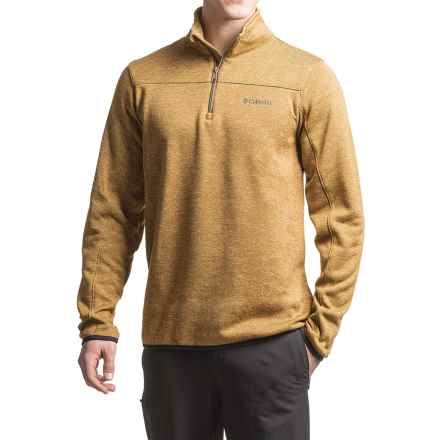 Columbia Sportswear Birch Woods Fleece Shirt - Zip Neck, Long Sleeve (For Men) in Delta - Closeouts
