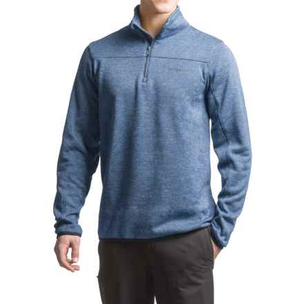 Columbia Sportswear Birch Woods Fleece Shirt - Zip Neck, Long Sleeve (For Men) in Night Tide - Closeouts
