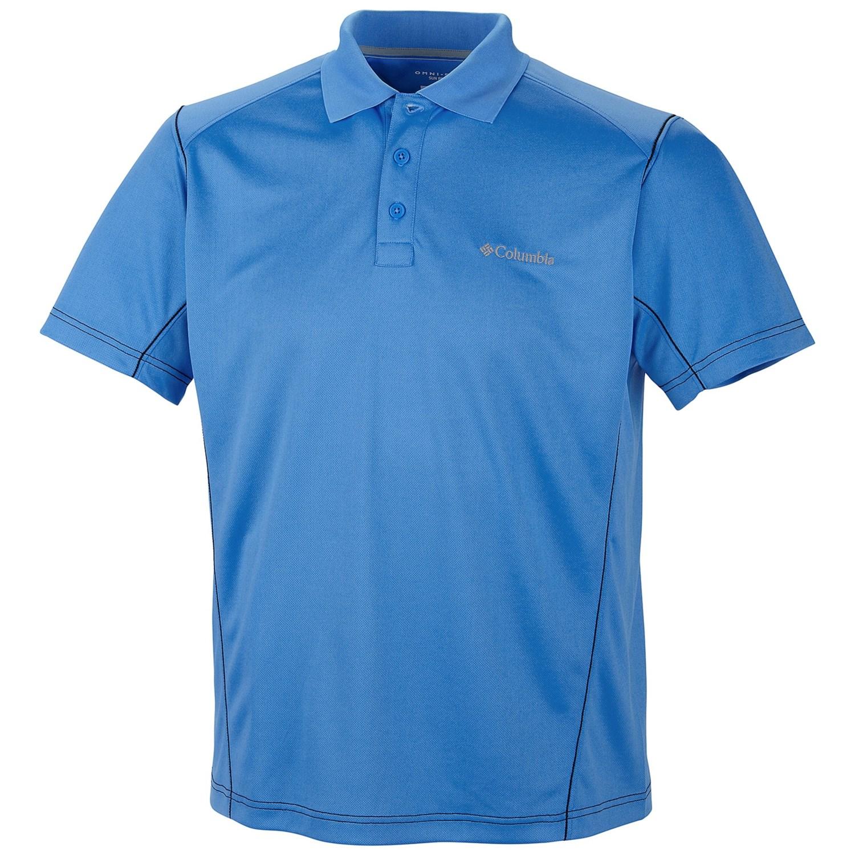 Columbia sportswear blasting cool polo shirt upf 30 for Cool mens polo shirts