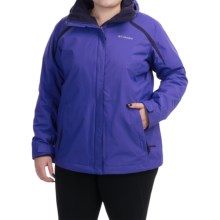 Columbia Sportswear Blazing Star Interchange Jacket - 3-in-1 (For Plus Size Women) in Light Grape/Inkling - Closeouts