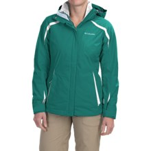 Columbia Sportswear Blazing Star Interchange Jacket - 3-in-1, Insulated, Omni-Shield® (For Women) in Emerald/White - Closeouts