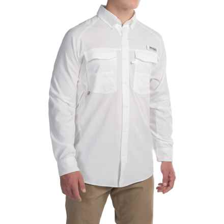Columbia Sportswear Blood and Guts Airgill Shirt - Omni-Shield®, UPF 50, Long Sleeve (For Men) in White - Closeouts