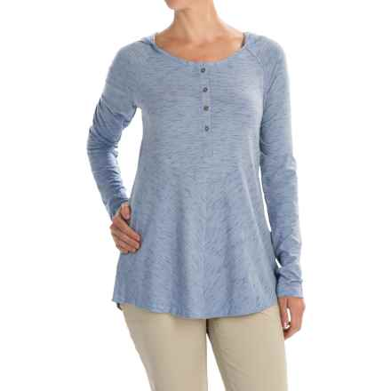 Columbia Sportswear Blurred Line Hooded Shirt - Long Sleeve (For Women) in Bluebell - Closeouts