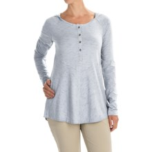Columbia Sportswear Blurred Line Hooded Shirt - Long Sleeve (For Women) in Cirrus Grey - Closeouts