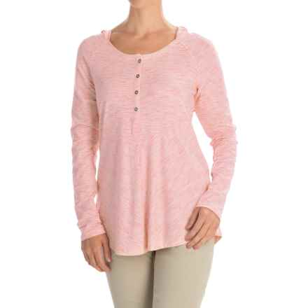 Columbia Sportswear Blurred Line Hooded Shirt - Long Sleeve (For Women) in Coral Bloom - Closeouts