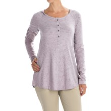 Columbia Sportswear Blurred Line Hooded Shirt - Long Sleeve (For Women) in Sparrow - Closeouts